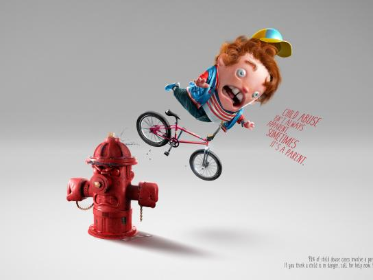 National Association Of School Nurses Print Ad - Behind the bruise - Fire hydrant