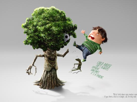 National Association Of School Nurses Print Ad - Behind the bruise - Tree