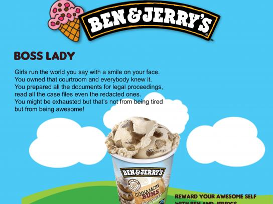 Ben and Jerry's Print Ad - Boss Lady