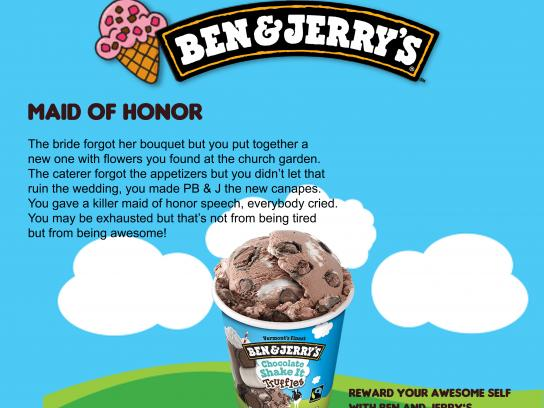Ben and Jerry's Print Ad - Maid of Honor