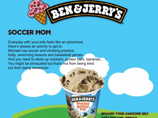 Ben and Jerry's Print Ad - Soccer Mom