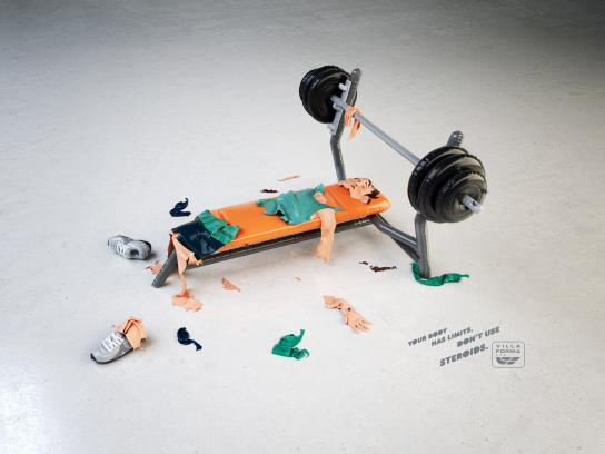 Villa Forma Gym Print Ad -  Bench-press