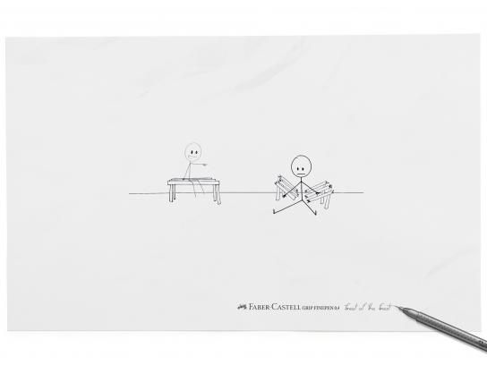 Faber-Castell Print Ad -  Bench