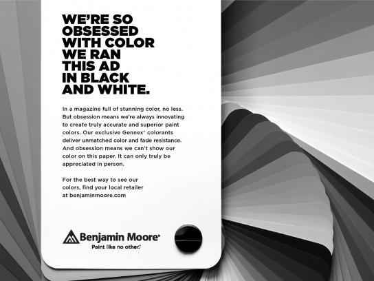 Benjamin Moore Print Ad - Swatch