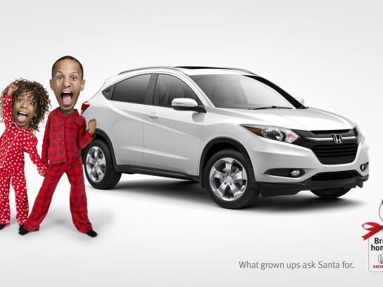 Honda Print Ad - Bring home a Honda - Santa