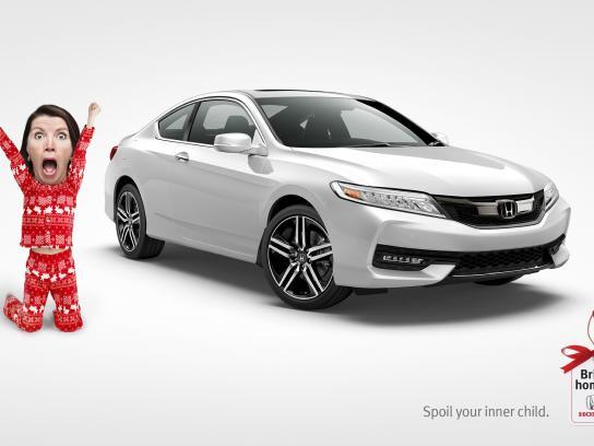 Honda Print Ad - Bring home a Honda - Spoil