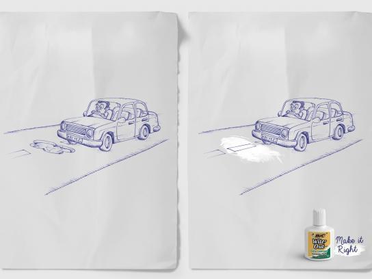 BIC Print Ad -  Road