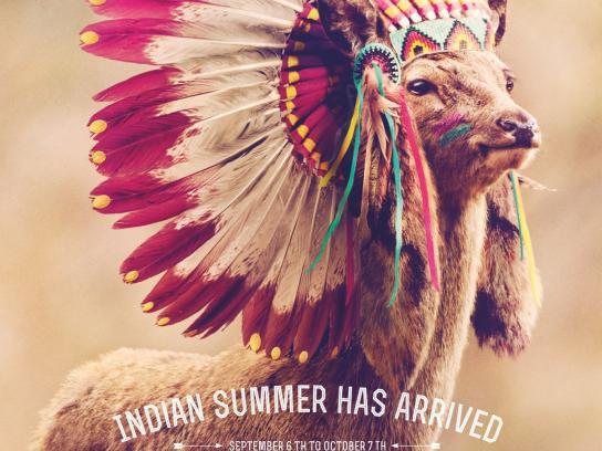 Center Parcs Print Ad -  Indian summer