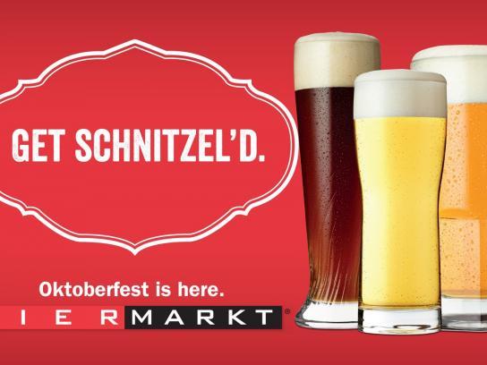 Bier Markt Outdoor Ad -  Schnitzel