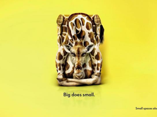 Big Yellow Storage Print Ad -  Giraffe