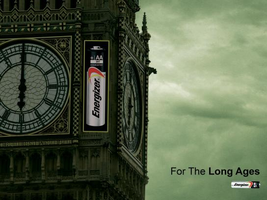 Energizer Print Ad - For The Long Ages