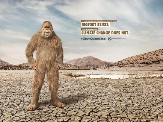 Climate Reality Group Print Ad - Bigfoot