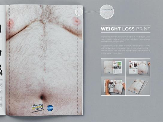 Channel TEN Print Ad -  Weight loss ad