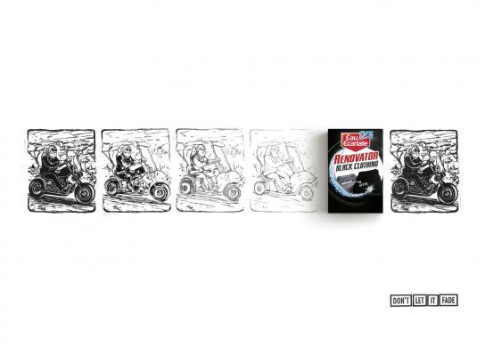 Eau Ecarlate Print Ad -  Biker