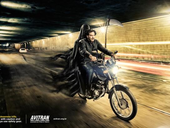 AVITRAN Print Ad -  Biker