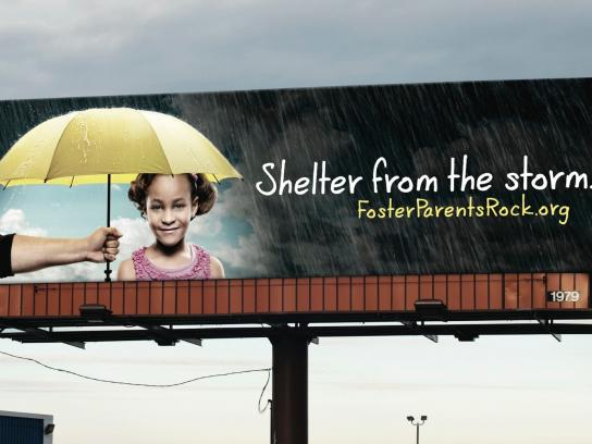 FosterParentsRock.org Outdoor Ad -  Shelter from the storm