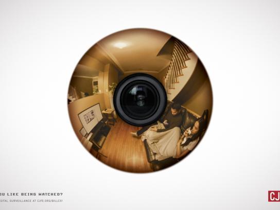 CJFE Print Ad -  Eye, 1
