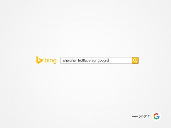 Google Print Ad -  Search trollface on Google