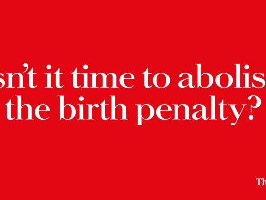 The Economist Outdoor Ad - Birth Penalty