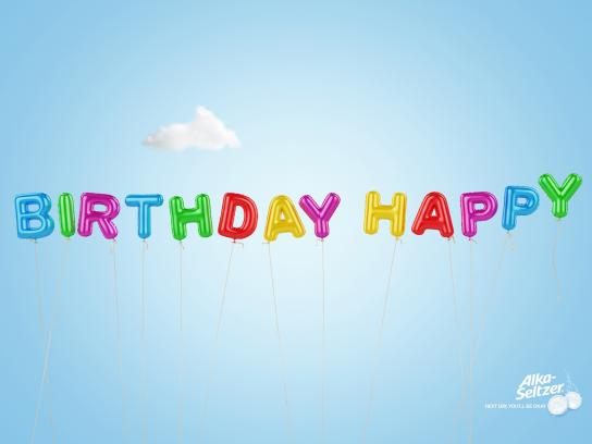 Alka Seltzer Print Ad -  Birthday