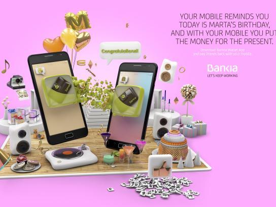 Bankia Print Ad - Birthday