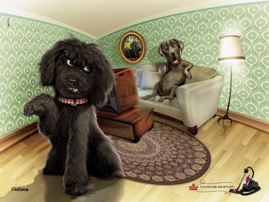 Bissell Print Ad -  The cheating dog