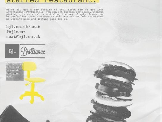 BJL Print Ad -  Burger