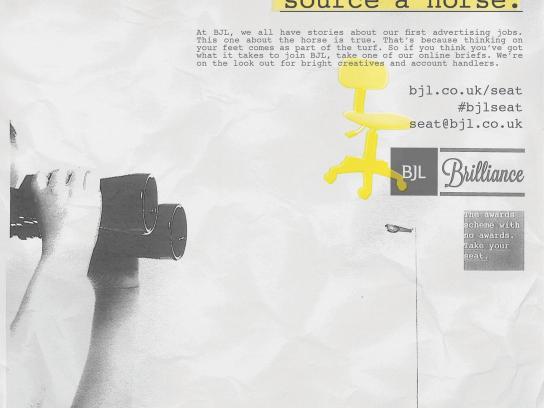 BJL Print Ad -  Horse