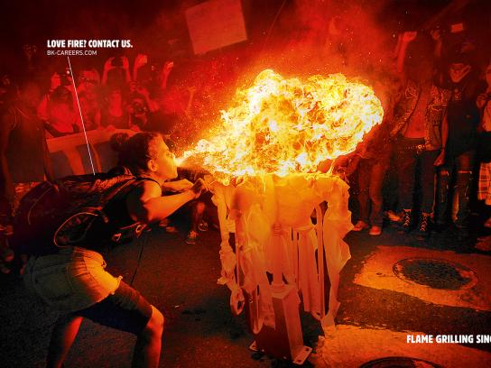 Burger King Print Ad - Love Fire, 2
