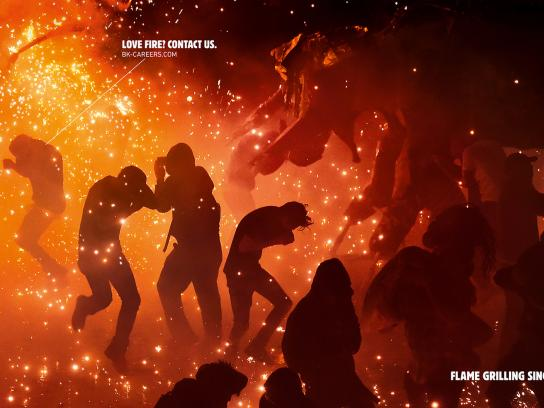 Burger King Print Ad - Love Fire, 3