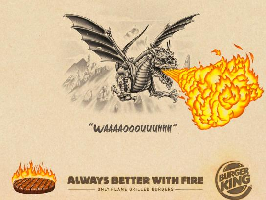 Burger King Print Ad - Always Better With Fire, 2