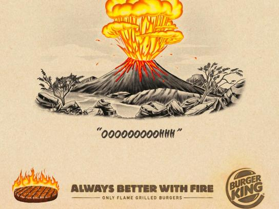 Burger King Print Ad - Always Better With Fire, 5