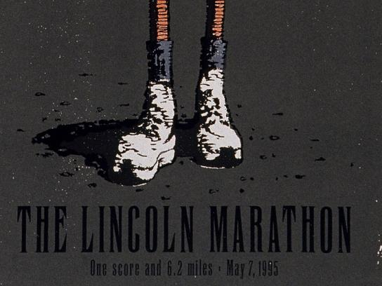 Poster for the 1995 Lincoln Marathon