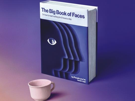 Black Button Books Print Ad - Big Book of Faces