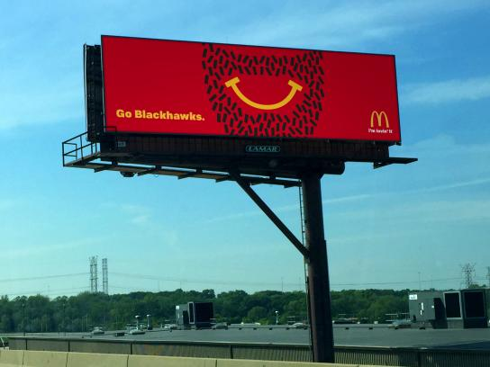 McDonald's Outdoor Ad -  Playoff beard