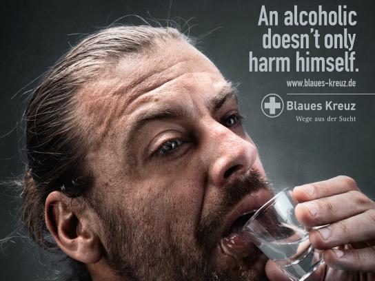 Blaues Kreuz Print Ad - Downfall - Man
