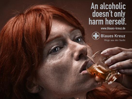 Blaues Kreuz Print Ad - Downfall - Woman
