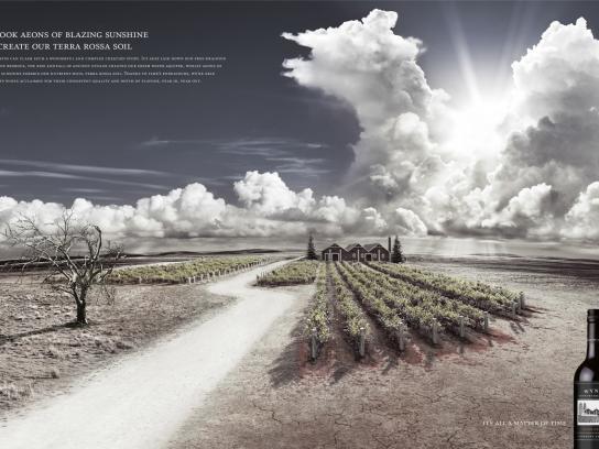Wynns Coonawarra Estate Print Ad -  Blazing Sun