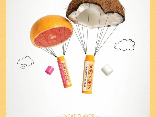 Burt's Bees Print Ad -  Uncap Flavor, 1
