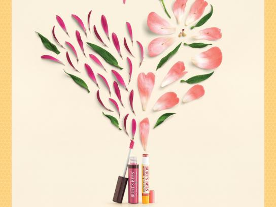 Burt's Bees Print Ad -  Butterfly Peony
