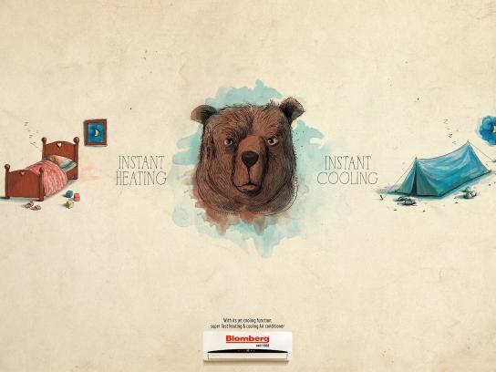 Blomberg Print Ad -  Bear