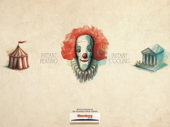 Blomberg Print Ad -  Clown