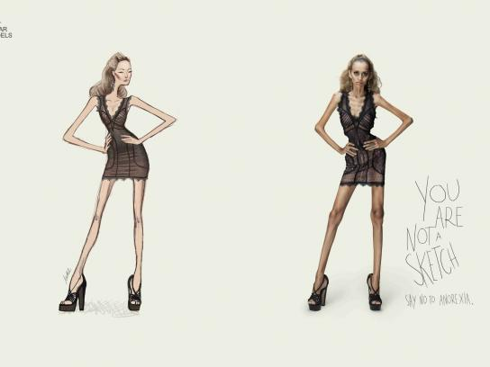 Star Models Print Ad -  Sketch, 2