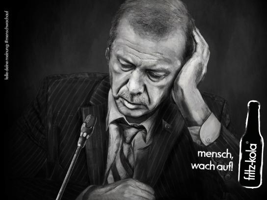 Fritz-kola Outdoor Ad - Wake up, man! - Erdogan