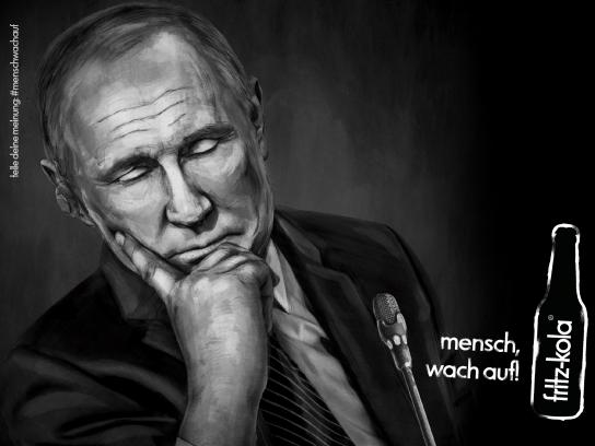 Fritz-kola Outdoor Ad - Wake up, man! - Putin