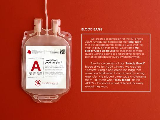 The Glenn Group Direct Ad - The Bloody Good Blood Drive