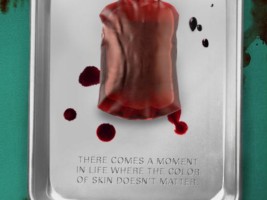 Amnesty International Print Ad - Blood Bag
