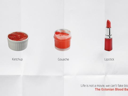 The Estonian Blood Bank Print Ad -  Need your blood, 2