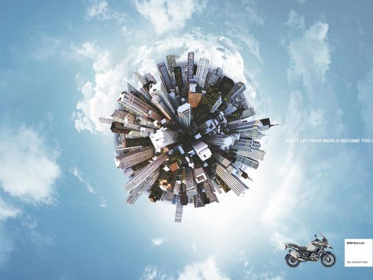 BMW Print Ad -  Small world - city