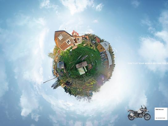 BMW Print Ad -  Small world - suburbs